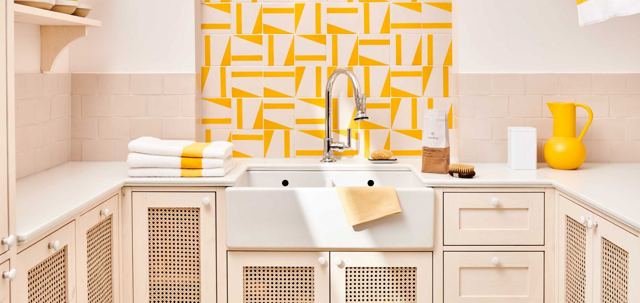 laundry gelb weiß