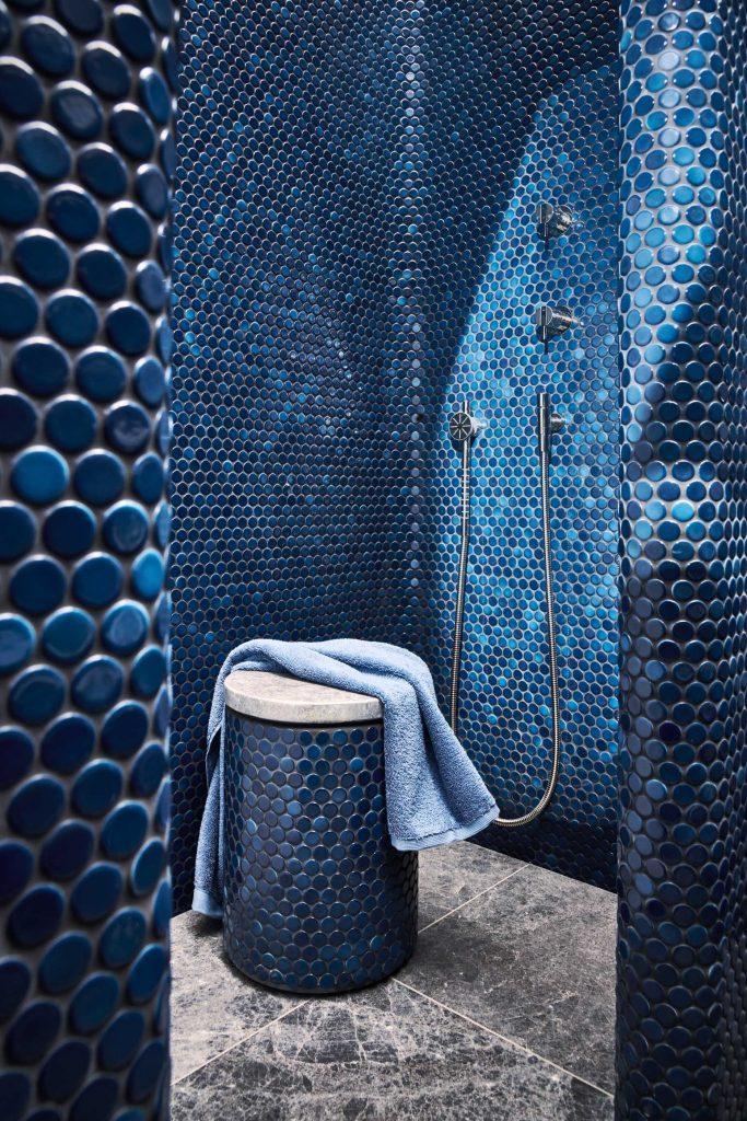 penny tiles mosaik dusche